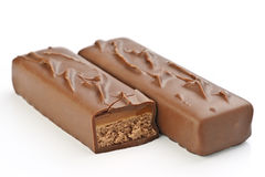 Filled bars of chocolate Royalty Free Stock Image