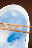 Filled bathtub, elevated view Stock Images