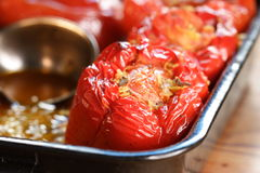 Filled bell pepper Royalty Free Stock Image