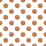 Filled biscuit pattern seamless vector. Repeat for any web design royalty free illustration
