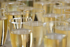 Filled champagne glasses Stock Photography