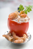 Filled cherry tomato. Delicious small cherry tomato as amuse Royalty Free Stock Photo