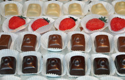 Filled chocolates Royalty Free Stock Photography