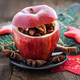 Filled christmas apple Stock Photography
