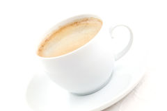 Filled coffee cup Stock Photography