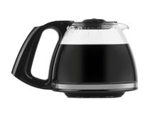 Filled coffee pot isolated against a white background Royalty Free Stock Photography