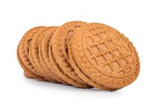 Filled cream cookies Royalty Free Stock Images