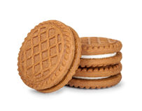 Filled cream cookies Royalty Free Stock Photography