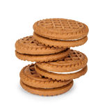 Filled cream cookies Stock Photography