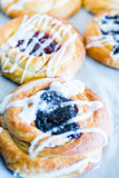 Filled danishes Royalty Free Stock Image