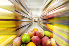 Filled with the fruit of the shopping cart. Royalty Free Stock Photo