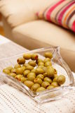 Filled green olives Royalty Free Stock Photo