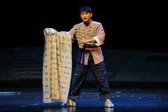 Filled with grievances cloth- Jiangxi opera a steelyard Stock Photo