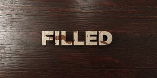 Filled - grungy wooden headline on Maple  - 3D rendered royalty free stock image Royalty Free Stock Photo