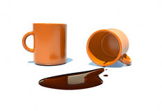 Filled with hot chocolate in a cup Royalty Free Stock Photography
