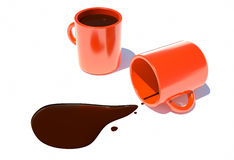 Filled with hot chocolate in a cup top view Royalty Free Stock Image