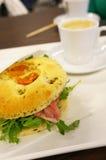 Filled italian bread Stock Photography