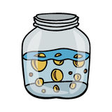 Filled jar icon image. Vector illustration design Stock Image
