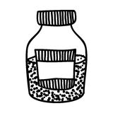 Filled jar icon image. Vector illustration design Royalty Free Stock Photography