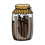 Filled jar icon image. Vector illustration design Stock Photos