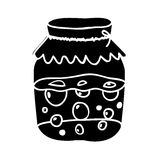Filled jar icon image. Vector illustration design Royalty Free Stock Photo