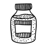 Filled jar icon image. Vector illustration design Royalty Free Stock Photos