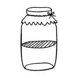 Filled jar icon image. Vector illustration design Royalty Free Stock Images