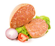 Filled meat speciality and slice Royalty Free Stock Photography