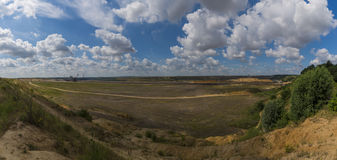 Filled opencast mine Royalty Free Stock Photos