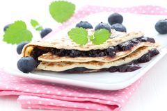 Filled pancake Stock Photography