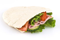 Filled pitta bread pocket Royalty Free Stock Image