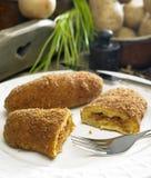 Filled potato rolls. Still life Royalty Free Stock Photos