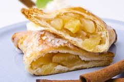 Filled puff pastry Royalty Free Stock Photo