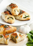 Filled puff pockets Stock Photography