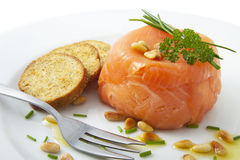 Filled salmon Stock Photography