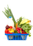 Filled shopping basket Stock Image