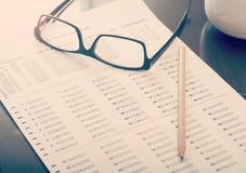 Filled standardized test form Royalty Free Stock Image