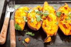 Filled sweet potatoes Stock Photo