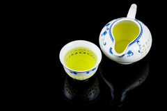 Filled with tea cup Royalty Free Stock Photography