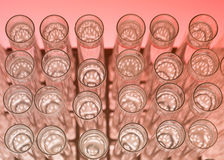 Filled test tubes on a stand Royalty Free Stock Photos