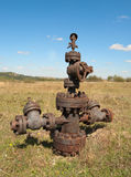 Filled up wellhead Stock Photography
