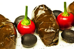 filled vine leaves Royalty Free Stock Images