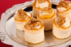 Filled vol au vents Royalty Free Stock Photography