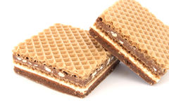 Filled wafer with chocolate Royalty Free Stock Image