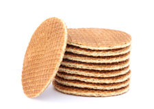 Filled wafer with chocolate Stock Photo