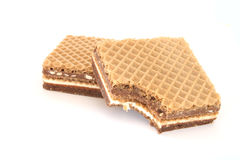 Filled Wafer With Chocolate Stock Image