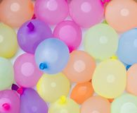 Filled water balloons Stock Image