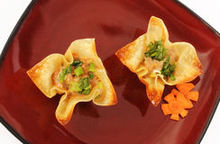 Filled Wontons Stock Photo