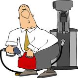 Fillerup. This illustration depicts a man filling up a gasoline can Stock Images