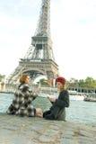 Filles à Paris Image libre de droits